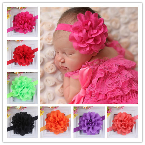 Baby Headband Hairband Soft Elastic Headband Floral Hair Kids Newborn